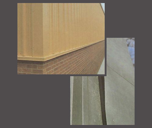 Cladding with and without roll lock edge